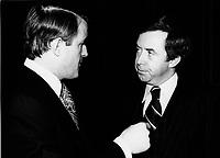 March 13 1978 File Photo -Montreal (Qc) Canada -  Canada. File photo  - Brian Mulroney (L) and Joe Clark (R)