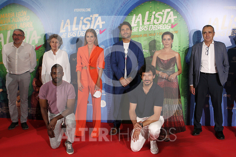 Minister of Finance, Maria Jesus Montero, Silvia Alonso, director Alvaro Diaz Lorenzo, Maria Leon, Andres Velencoso and Bore Buika attend La Lista De Los Deseos photocall on July 02 in Madrid, Spain.(ALTERPHOTOS/ItahisaHernandez)