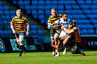 25th April 2021; Ricoh Arena, Coventry, West Midlands, England; English Premiership Rugby, Wasps versus Bath Rugby; Jonathan Joseph of Bath Rugby is tackled by Thomas Young of Wasps