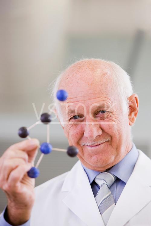 Portrait of senior scientist