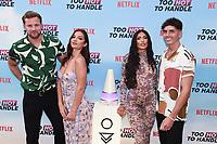 Robert Van Tromp, Christina Carmela, Emily Miller and Cam Holmes<br /> at the 'Too Hot to Handle' season 2 screening, London.<br /> <br /> ©Ash Knotek  D3566 23/06/2021