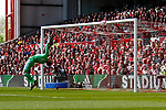 Nottingham Forest 3 Ipswich Town 0, 07/05/2017. City Ground, Championship. Jordan Smith of Nottingham Forest tips a header onto the bar during the game between Nottingham Forest v Ipswich Town at the City Ground Nottingham in the SkyBet Championship. Photo by Paul Thompson.
