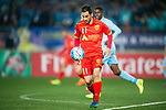 Adelaide United Forward Sergio Cirio in action during the AFC Champions League 2017 Group H match between Jiangsu FC (CHN) vs Adelaide United (AUS) at the Nanjing Olympics Sports Center on 01 March 2017 in Nanjing, China. Photo by Marcio Rodrigo Machado / Power Sport Images