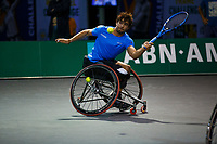 Rotterdam, The Netherlands, 11 Februari 2020, ABNAMRO World Tennis Tournament, Ahoy, <br /> Wheelchair tennis: Daniel Caverzaschi (ESP).<br /> Photo: www.tennisimages.com
