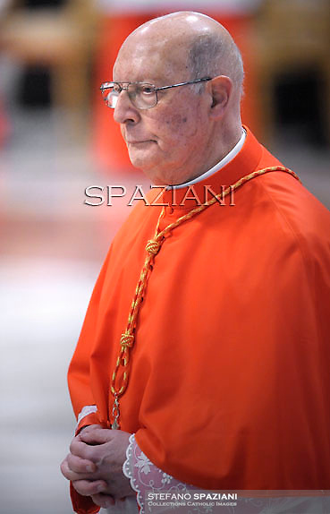 cardinal Prosper Grech   ,  Pope Benedict XVI leads the Consistory where he will appoint 22 new cardinals on February 18, 2012 at St Peter's basilica at the Vatican.