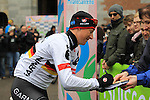 Fabian Wegmann (GER) Garmin Sharp at the sign on before the start of the 104th edition of the Milan-San Remo cycle race at Castello Sforzesco in Milan, 17th March 2013 (Photo by Eoin Clarke 2013)