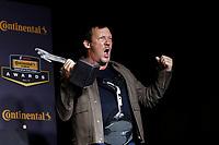 IMSA Continental Tire SportsCar Challenge<br /> Series Awards Banquet<br /> Road Atlanta, Braselton GA<br /> Friday 6 October 2017<br /> Jeff Mosing with the Continental Extreme Spirit Award<br /> World Copyright: Michael L. Levitt<br /> LAT Images