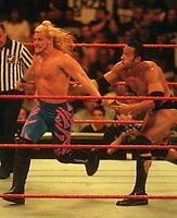Dwayne The Rock Johnson  & Chris Jericho 1998<br /> Photo By John Barrett/PHOTOlink