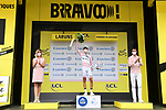 Benoit Cosnefroy (FRA) AG2R La Mondial retains the mountains Polka Dot Jersey at the end of Stage 9 of Tour de France 2020, running 153km from Pau to Laruns, France. 6th September 2020. <br /> Picture: ASO/Alex Broadway   Cyclefile<br /> All photos usage must carry mandatory copyright credit (© Cyclefile   ASO/Alex Broadway)