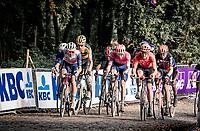 Mads Pedersen (DEN/Trek-Segafredo) & the other race leaders over the Kemmelberg<br /> <br /> 82nd Gent-Wevelgem in Flanders Fields 2020 (1.UWT)<br /> 1 day race from Ieper to Wevelgem (232km)<br /> <br /> ©kramon