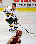 9 January 2009: University of Vermont Catamounts' forward Justin Milo, a Sophomore from Edina, MN, in action during the first game of a weekend series against the Boston College Eagles at Gutterson Fieldhouse in Burlington, Vermont. The Catamounts scored with one second remaining in regulation time to earn a 3-3 tie with the visiting Eagles. Mandatory Photo Credit: Ed Wolfstein Photo