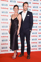 Camilla Arfwedson and James Anderson<br /> at the Inside Soap Awards 2016 held at the Hippodrome Leicester Square, London.<br /> <br /> <br /> ©Ash Knotek  D3157  03/10/2016
