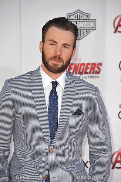 """Chris Evans at the world premiere of his movie """"Avengers: Age of Ultron"""" at the Dolby Theatre, Hollywood.<br /> April 13, 2015  Los Angeles, CA<br /> Picture: Paul Smith / Featureflash"""