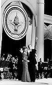 Washington DC, USA<br /> <br /> January 20, 2001..President George W. Bush and first lady Laura Bush attend the Texas Inaugural Ball.