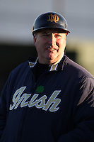 February 26, 2010:  Head Coach Dave Schrage of the Notre Dame Fighting Irish during the Big East/Big 10 Challenge at Jack Russell Stadium in Clearwater, FL.  Photo By Mike Janes/Four Seam Images