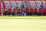 (L-R) kana Kitahara, Yuri Kawamura (JPN), JULY 1, 2015 - Football / Soccer : FIFA Women's World Cup Canada 2015 Semir-final match between Japan 2-1 England at Commonwealth Stadium in Edmonton, Canada. (Photo by Yusuke Nakanishi/AFLO SPORT)