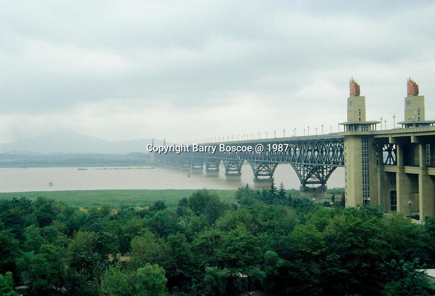 Nanjing Yangtze River Bridge Completed 1968 in China