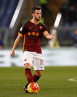 Calcio, Serie A: Roma vs Sampdoria. Roma, stadio Olimpico, 7 febbraio 2016.<br /> Roma's Miralem Pjanic in action during the Italian Serie A football match between Roma and Sampdoria at Rome's Olympic stadium, 7 January 2016.<br /> UPDATE IMAGES PRESS/Riccardo De Luca