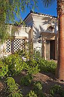 vignette of entryway of modern Mediterranean home