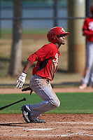 Cincinnati Reds Satchel McElroy (12) during an instructional league game against the Los Angeles Dodgers on October 20, 2015 at Cameblack Ranch in Glendale, Arizona.  (Mike Janes/Four Seam Images)
