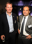 Lars Solstad and Remi Birkeland at the Technip reception at the Hotel Derek Tuesday May 1,2012. (Dave Rossman Photo)
