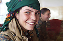 Iraq 2015  Akheen, 18 years old, a young Yezidi fighter of Êzidxan Women's units ( YIÊ )<br />