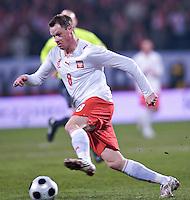 Jacek Krzynowek of Poland. The United States defeated Poland 3-0 during an international friendly at Wisla Stadium in Krakow, Poland on March 26, 2008.