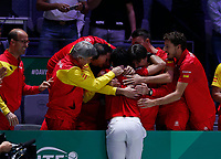 Roberto Bautista Agut of Spain celebrates victory <br /> La Caja Magica on November 24, 2019 in Madrid, Spain. (ALTERPHOTOS/Manu R.B.)<br /> Tennis Davis Cup 2019 <br /> Coppa Davis FINALE<br /> Foto Alterphotos / Insidefoto <br /> ITALY ONLY