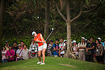 TAOYUAN, TAIWAN - OCTOBER 27:  Alison Walshe chips into the 17th green during the day three of the Sunrise LPGA Taiwan Championship at the Sunrise Golf Course on October 27, 2012 in Taoyuan, Taiwan.  Photo by Victor Fraile / The Power of Sport Images