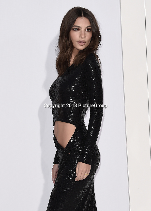 """WESTWOOD, CA - APRIL 17:  Emily Ratajkowski at the world premiere of """"I Feel Pretty"""" at Westwood Village Theater on April 17, 2018 in Westwood, California. (Photo by Scott KirklandPictureGroup)"""