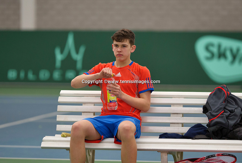 Rotterdam, The Netherlands, March 19, 2016,  TV Victoria, NOJK 14/18 years, Stijn Pel (NED)<br /> Photo: Tennisimages/Henk Koster