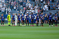 CARSON, CA - JUNE 19: Seattle Sounders FC starting eleven during a game between Seattle Sounders FC and Los Angeles Galaxy at Dignity Health Sports Park on June 19, 2021 in Carson, California.