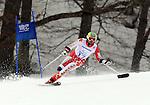 Matt Hallat, Sochi 2014 - Para Alpine Skiing // Para-ski alpin.<br /> Matt Hallat competes in the men's Super G, standing event // Matt Hallat participe au Super G masculin, épreuve debout. 09/03/2014.