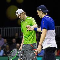 ABN AMRO World Tennis Tournament, Rotterdam, The Netherlands, 14 februari, 2017, Niels Lootsma (NED), Tallon Griekspoor (NED)<br /> Photo: Henk Koster