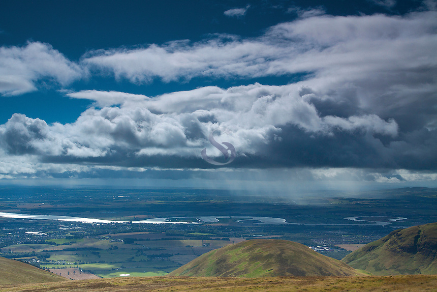 The River Forth and the Forth Valley from Ben Ever, the Ochil Hills, Tillicoultry, Clackmannanshire