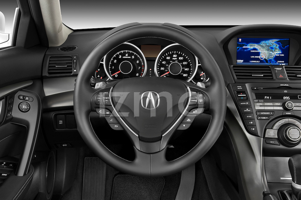 Steering wheel view of a 2009 - 2014 Acura TL SH AWD Sedan.