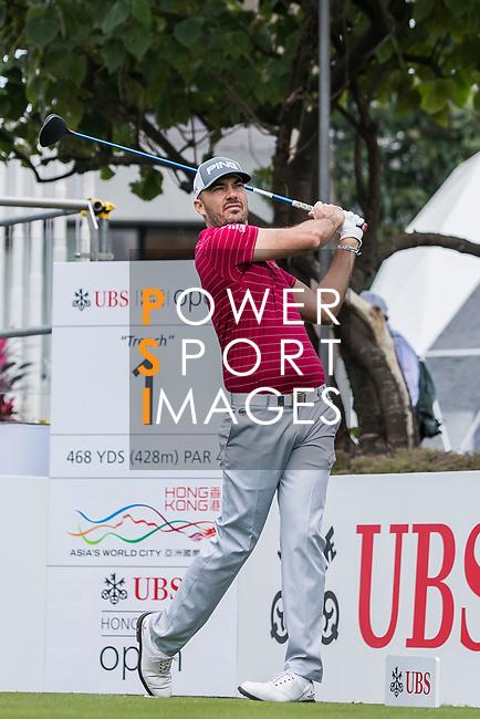 Gregory Havret of France tees off during the day two of UBS Hong Kong Open 2017 at the Hong Kong Golf Club on 24 November 2017, in Hong Kong, Hong Kong. Photo by Yu Chun Christopher Wong / Power Sport Images