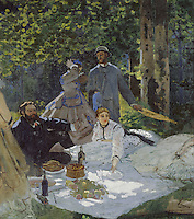 Claude Monet - Luncheon on the Grass, Central panel (1865). Paris, musée d'Orsay.