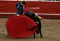 """MANIZALES- COLOMBIA - 11 - 01 - 2018: Julian Lopez """"El Juli"""" torero español en acción durante festival Taurino en la Plaza de toros de Manizales, durante la feria de la ciudad de Manizales. / Julián López """"El Juli"""" Spanish bullfighter in action during the bullfighting festival in the Manizales's Bullring, during the fair in Manizales city. Photo: VizzorImage  / Santiago Osorio / Cont."""