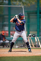 Atlanta Braves Austin Riley (90) during a minor league Spring Training game against the Detroit Tigers on March 25, 2017 at ESPN Wide World of Sports Complex in Orlando, Florida.  (Mike Janes/Four Seam Images)