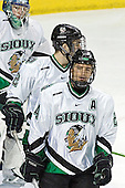 Jordan Parise, Joe Finley, Chris Porter - The University of Minnesota Golden Gophers defeated the University of North Dakota Fighting Sioux 4-3 on Friday, December 9, 2005, at Ralph Engelstad Arena in Grand Forks, North Dakota.