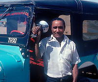Self employed cab driver in the state of Guajira in Columbia, South America