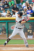 Jeremy Hermida (27) of the Nashville Sounds at bat against the Salt Lake Bees in Pacific Coast League action at Smith's Ballpark on June 23, 2014 in Salt Lake City, Utah.  (Stephen Smith/Four Seam Images)