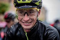 Lucas Hamilton (AUS/Mitchelton-Scott) post-finish & still able to smile after a super soaking stage 5<br /> <br /> Stage 5: Frascati to Terracina (140km)<br /> 102nd Giro d'Italia 2019<br /> <br /> ©kramon