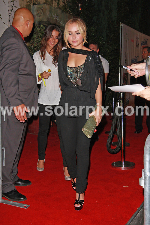**ALL ROUND PICTURES FROM SOLARPIX.COM**.**WORLDWIDE SYNDICATION RIGHTS**.**NO PUBLICATION IN AUSTRALIA, NEW ZEALAND, DENMARK, GERMANY OR USA**.Hayden Panettiere outside The Green Door in Hollywood and enjoying her lolly-pop while waiting in the backseat of her SUV. Hollywood, California, USA. 24th September 2008..JOB REF:  7454 LAP (JS)       DATE: 24_09_2008.**MUST CREDIT SOLARPIX.COM OR DOUBLE FEE WILL BE CHARGED* *UNDER NO CIRCUMSTANCES IS THIS IMAGE TO BE REPRODUCED FOR ANY ONLINE EDITION WITHOUT PRIOR PERMISSION*