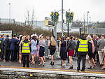 Aintree Liverpool UK 14th April 2018.Spectators arrive for Ladies Day at Aintree Racecourse.