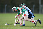 Keilan Kelly of St Fergal's College in action against Henry Mc Grath of Scariff Community College during their All-Ireland Colleges final at Toomevara. Photograph by John Kelly.