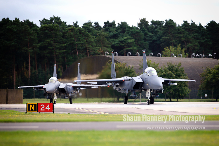 Pix: Shaun Flannery/shaunflanneryphotography.com<br /> <br /> COPYRIGHT PICTURE>>SHAUN FLANNERY>01302-570814>>07778315553>><br /> <br /> 7th August 2017<br /> Royal Air Force Lakenheath<br /> F-15 Fighter Wing