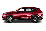 Car Driver side profile view of a 2021 Suzuki Across GLX 5 Door SUV Side View