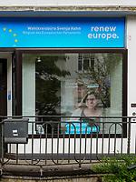 FDP Wahlkreisbüro Svenja Hahn, Curschmannstr. in Hamburg-Hoheluft-Ost, Deutschland, Europa<br /> FDP constituency office Svenja Hahn, Curschmannstr. in Hamburg-Hoheluft-Ost, Germany, Europe